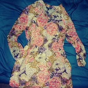 Lauren by Ralph Lauren Sheer Floral dress